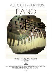 Audición de alumnos de piano @ Conservatorio Valle del Nalón   Langreo   Principado de Asturias   España