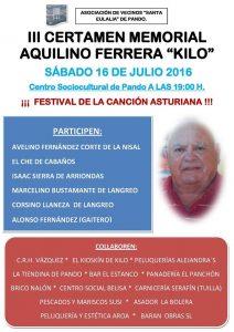"""III Certamen Memorial Aquilino Ferrera """"Kilo"""" @ Centro Social de Pando"""