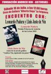 Encuentro con Leonardo Padura y Lluis Juste de Nin