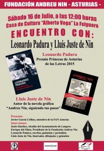 Encuentro con Leonardo Padura y Lluis Juste de Nin @ Casa de la Cultura de La Felguera | Langreo | Principado de Asturias | España