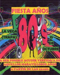 Fiesta años 80 @ La Vega (Trapa) | La Trapa | Principado de Asturias | España