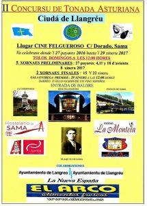 II Concurso de Tonada Asturiana Ciudá de Llangréu @ Cine Felgueroso | Langreo | Principado de Asturias | España
