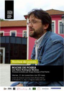 Noches de poesía: Pablo Rodríguez Medina @ Centro de Creación Escénica Carlos Álvarez-Nóvoa | Langreo | Principado de Asturias | España