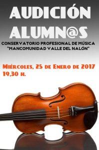 Concierto: Audición de alumnos de violín @ Conservatorio del Nalón   Langreo   Principado de Asturias   España