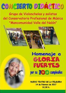 Concierto didáctico Homenaje a Gloria Fuertes @ Nuevo Teatro de La Felguera | Langreo | Principado de Asturias | España