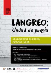Langreo: Ciudad de poesía @ Centro de Creación Escénica Carlos Álvarez Nóvoa | Langreo | Principado de Asturias | España