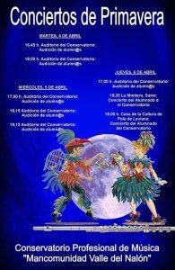 Audiciones de primavera 2017 @ Conservatorio del Nalón | Langreo | Principado de Asturias | España
