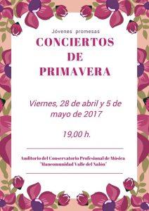 Conciertos de Primavera @ Conservatorio Valle del Nalón | Langreo | Principado de Asturias | España