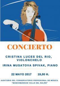 Concierto de Violonchelo - Cristina Luces del Río @ Conservatorio del Valle del Nalón | Langreo | Principado de Asturias | España