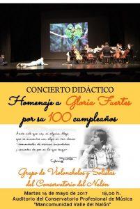 Concierto homenaje a Gloria Fuertes @ Conservatorio Valle del Nalón | Langreo | Principado de Asturias | España