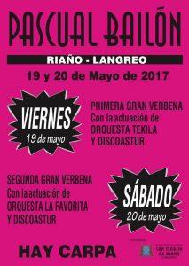 Fiestas de Pascual Bailón 2017 en Riaño (Langreo) @ Riaño | Langreo | Principado de Asturias | España