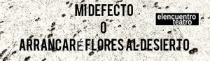 Teatro: Mi defecto o arrancaré flores al desierto @ Nuevo Teatro de La Felguera | Langreo | Principado de Asturias | España
