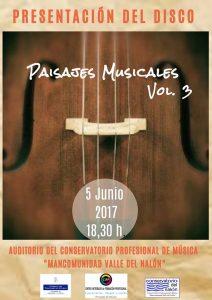 Presentación de disco: Paisajes musicales vol. 3 @ Conservatorio del Valle del Nalón | Langreo | Principado de Asturias | España