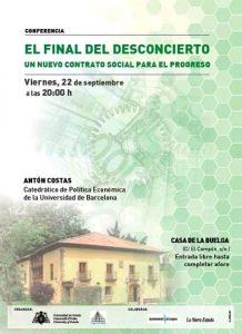 Presentación del libro: El final del desconcierto. Un nuevo contrato social para el progreso. @ Casa de La Buelga | (Ciaño) - Langreo | Principado de Asturias | España