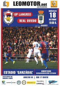 Partido amistoso inauguración césped: U.P. de Langreo - R. Oviedo @ Estadio Ganzábal | Langreo | Principado de Asturias | España
