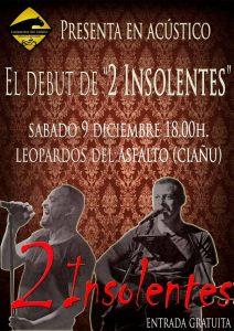 Concierto: 2 insolentes @ Sede Leopardos del Asfalto | Langreo | Principado de Asturias | España