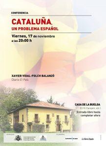 Conferencia: Cataluña, un problema español @ Casa de La Buelga | Langreo | Principado de Asturias | España