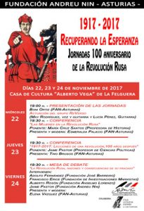 Jornadas 100 Aniversario de la Revolución Rusa: 1917 - 2017, Recuperando la esperanza @ Casa de Cultura de La Felguera | Langreo | Principado de Asturias | España