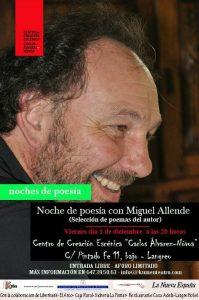 Noches de poesía: Miguel Allende @ Centro de Creación Escénica Carlos Álvarez-Nòvoa   Langreo   Principado de Asturias   España
