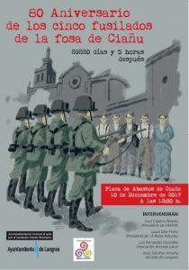 80º Aniversario de los cinco fusilados en la fosa de Ciaño @ Plaza de Abastos de Ciaño   Langreo   Principado de Asturias   España