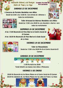 Actividades infantiles en Navidad 2017 - Xente de Trapa y La Vega