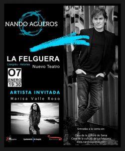 Concierto: Nando Agüeros @ Nuevo Teatro de La Felguera   Langreo   Principado de Asturias   España