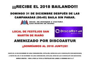Baile de año nuevo 2018 en Riaño @ Riaño   Langreo   Principado de Asturias   España