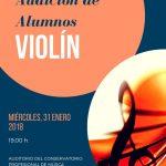 Audición de alumnos de violín