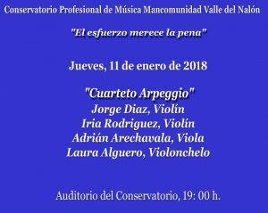 Concierto: Cuarteto Arpeggio @ Conservatorio del Nalón | Langreo | Principado de Asturias | España