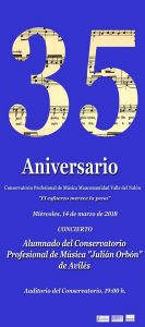 Concierto del alumnado del Conservatorio de Avilés @ Conservatorio del Nalón | Langreo | Principado de Asturias | España