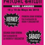 Fiestas de Pascual Bailón 2018 en Riaño (Langreo)