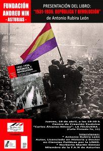 Presentación de libro: 1931-1936. República y Revolución @ Centro de Creación Escénica Carlos Álvarez-Nòvoa | Langreo | Principado de Asturias | España