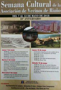 XL Semana Cultural Asociación de Vecinos de Riaño 2018