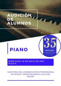 Audición de alumnos de piano @ Conservatorio del Nalón | Langreo | Principado de Asturias | España
