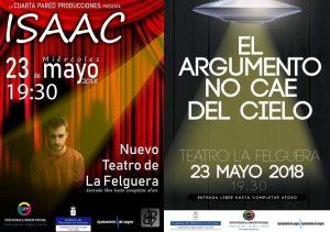 Teatro: Isaac / El argumento no cae del cielo @ Nuevo Teatro de La Felguera | Langreo | Principado de Asturias | España