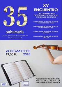 XV Encuentro de Conservatorios Profesionales de Música del Principado de Asturias @ Conservatorio del Nalón | Langreo | Principado de Asturias | España