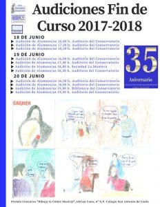 Audiciones fin de curso 2017-18 - Conservatorio del Nalón @ Conservatorio del Nalón | Langreo | Principado de Asturias | España