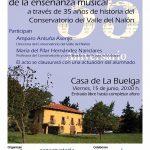 Charla: La importancia del estudio de la enseñanza musical a través de 35 años de historia del Conservatorio del Valle del Nalón