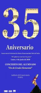 Concierto fin grado elemental @ Conservatorio del Nalón | Langreo | Principado de Asturias | España