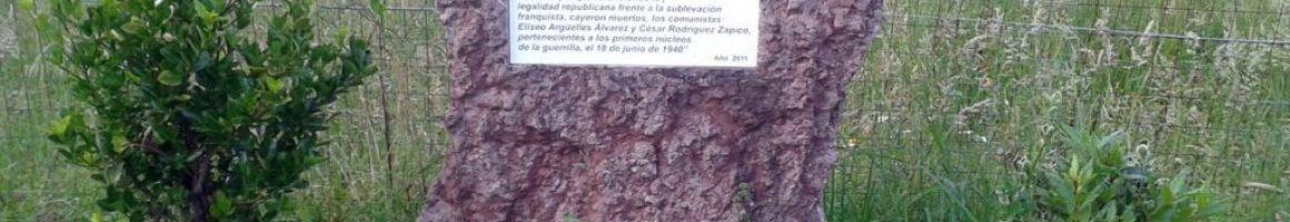 Monolito en memoria de Eliseo Argüelles y César Rodríguez