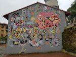 "Pintura mural ""Nacemos diferentes para celebrarnos iguales"""