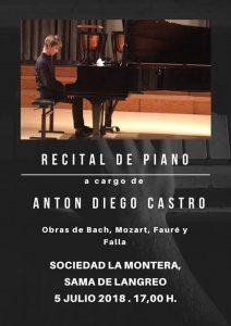 Recital de piano @ Sociedad La Montera | Langreo | Principado de Asturias | España