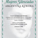 """Entrega de Premios del XI Certamen de Poesía """"Mujeres Silenciadas"""" - Argentina Rubiera"""