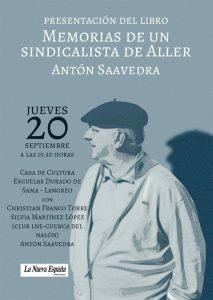 Presentación de libro: Memorias de un sindicalista de Aller @ Escuelas Dorado | Langreo | Principado de Asturias | España