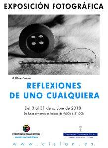 Exposición fotográfica: Reflexiones de uno cualquiera @ CIFP Cislan | Langreo | Principado de Asturias | España