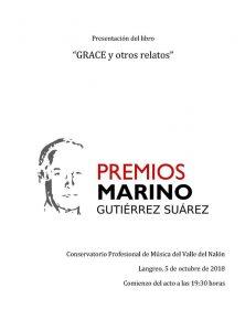 Presentación de libro: Grace y otros relatos @ Conservatorio del Nalón | Langreo | Principado de Asturias | España