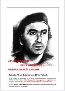 40º Aniversario del asesinato de Gaspar García Laviana @ Tuilla