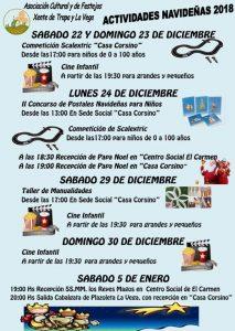 Actividades Navideñas 2018 - Asociación Cultural y de Festejos Xente de Trapa @ Trapa y El Carmen
