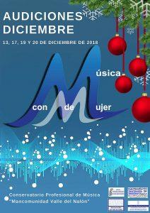 Audiciones de Navidad del alumnado del Conservatorio del Nalón @ Conservatorio del Nalón