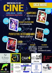 Miércoles de Cine Diciembre Cine Ideal Ciaño